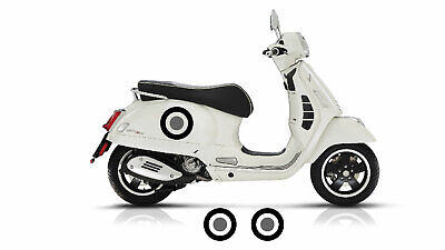 VESPA GT GTS 125 200 250 300 SIDE PANEL TARGETS STICKERS DECALS GRAPHICS