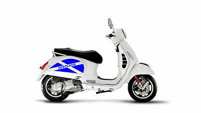 VESPA GT GTS SCOTTISH FLAG SIDE PANEL STICKERS BLUE DECALS GRAPHICS