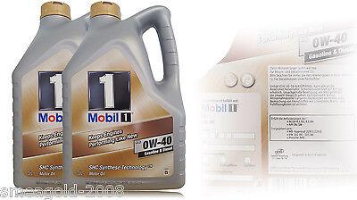 Mobil 1 FS (ersetzt NEW LIFE) 0W-40 Motoröl MERCEDES VW PORSCHE 2x5 Liter