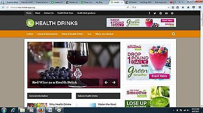 Health Drinks Turnkey Adsense Website For Sale Ready To Go Clickbank Website