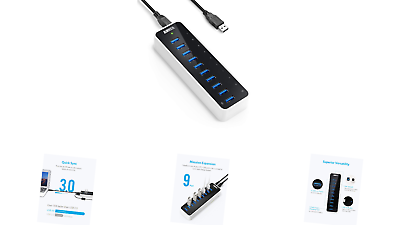 Anker  USB 3.0 SuperSpeed 10-Port Hub Including a BC 1.2 Cha