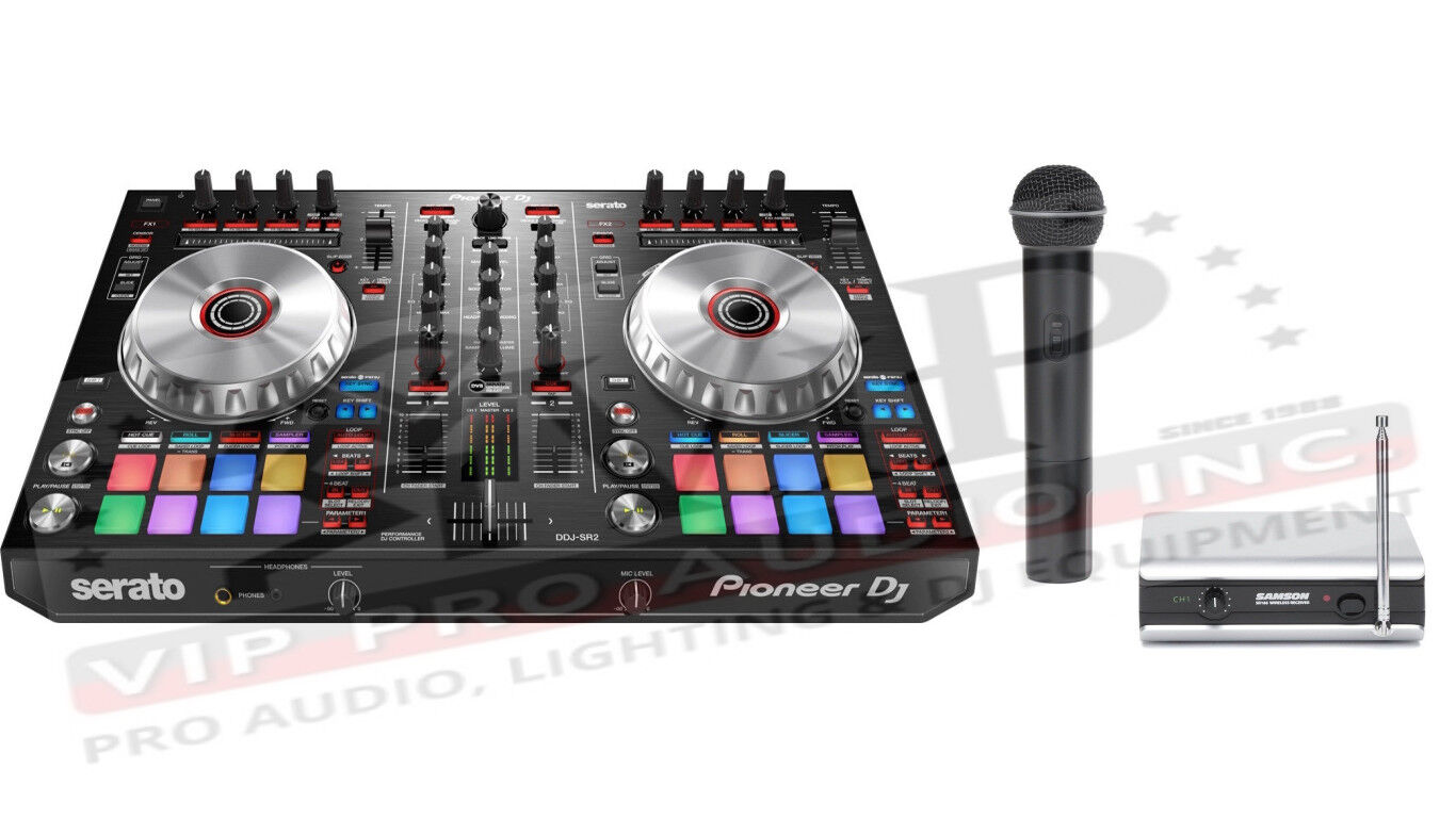 Details about Pioneer DDJ-SR2 Double Deck SERATO DJ CONTROLLER 2Ch + Samson  Wireless Mic V166