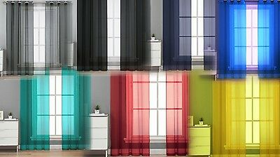 1PC GROMMET SOLID VOILE SHEER PANEL WINDOW CURTAIN TREATMENT DRAPE NEW - Decoration Curtains
