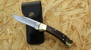 Buck Ranger 112 Taschenmesser Messer Jagdmesser  420 HC Stahl 280011 Lederetui