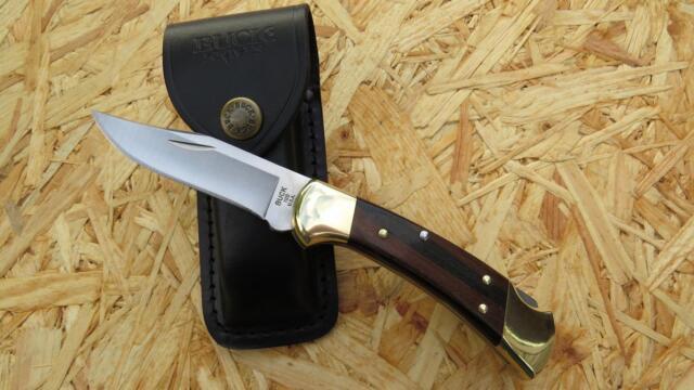 Buck Ranger 112 Taschenmesser, Messer Jagdmesser  420 HC Stahl, 280011 Lederetui