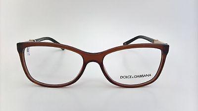 Dolce Gabbana Brille Brillengestell Fassung DG3107 2542 braun gold schwarz