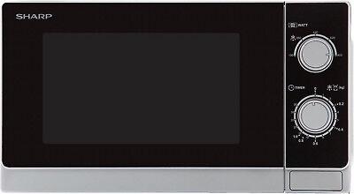 SHARP  R-200 INW  Solo-Kompakt-Mikrowellengerät mit 20 Liter Inhalt   Silber ()