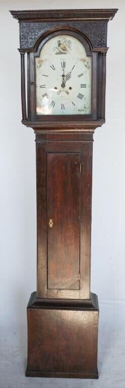 Antique George III Tallcase Grandfather Clock, Rogers Leominster, c. 1778-1795