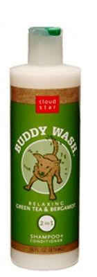 Cloud Star BUDDY WASH Dog Shampoo & Conditioner GREEN TEA & BERGAMOT 16 OZ.