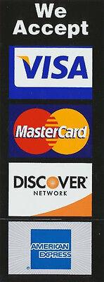 Credit Card Logo Decal Sticker - Visa Mastercarddiscoveramex