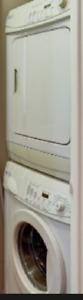 Maytag stackable compact washer and dryer
