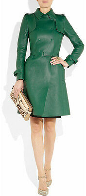 Stylish Leather Dress (Spring Designer Lamb New Leather Women Dress Cocktail Stylish Party Wear )
