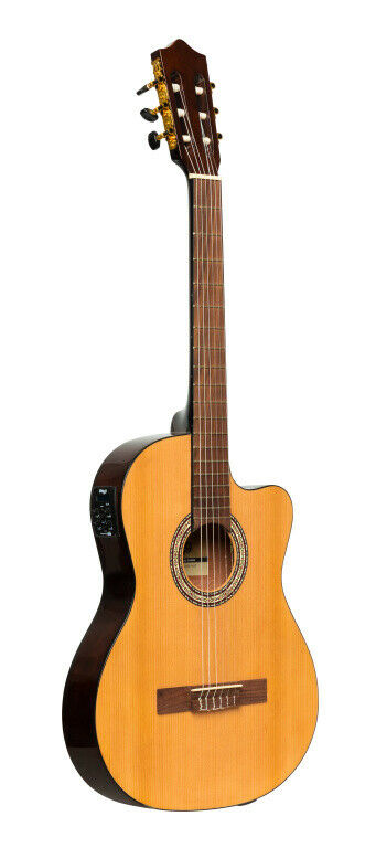 SCL60 Cutaway Akustisch-Elektrische Classical Guitar With B-Band 4-band Eq, Far