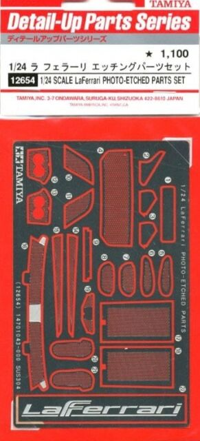 Tamiya 12654 1/24 La Ferrari PE Photo Etched Detail Up Parts For 24333 LaFerrari