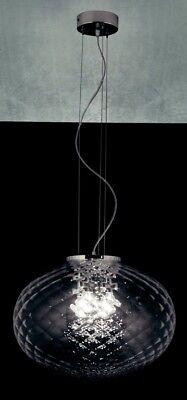 Lámpara de Araña Colgante Moderno de Metal Cromado Y Vidrio De Murano...