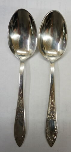 STIEFF STERLING SILVER (2) SPOONS 64 GRAMS VINTAGE FREE SHIPPING
