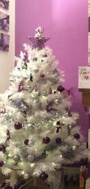 Stunning white Christmas tree and decoration bundle/job lot