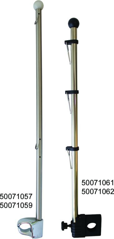 Stainless Steel Rail Mount Flag Staff Pole for Boat Marine /&American Flag USA
