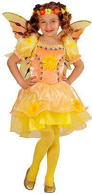 stüm gelb NEU - Mädchen Karneval Fasching Verkleidung Kostüm (Gelbe Fee Kostüm)