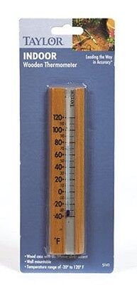 TAYLOR WOOD WALL THERMOMETER