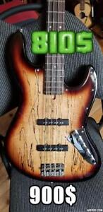Jazz bass Spalted Maple active WOWW!!