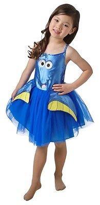 Mädchen Offiziell Disney Blau Finding Dory Nemo Tutu Kostüm Kleid Outfit