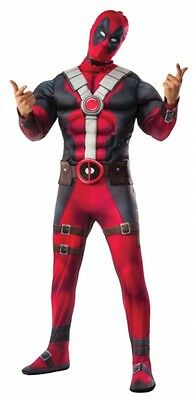 Deluxe Deadpool Adult Halloween Costume & Mask, Wade Wilson, FREE 3 DAY DELIVERY](Halloween Costume Deluxe)