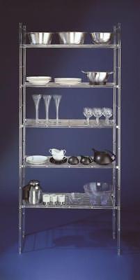 Economic Regal Metall mit 5 Gitterböden 200 x 85 x 33 cm (Höhe x Breite x Tiefe) - Metall Breite Bücherregal