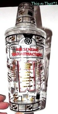 Plastic Movie Night Star attractions Martini Drink Mixer Shaker Recipes on it