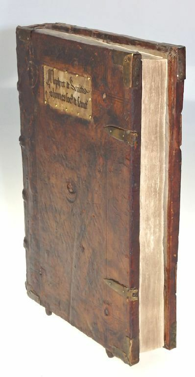 COMPLETE INCUNABLE MEFFRET SERMONES GOTHIC CHAIN BINDING KESSLER BASEL 1483