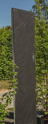 Schiefer-Stelen, Stein-Obelisk,Monolith, Zaun, Gartendekoration, 220cm