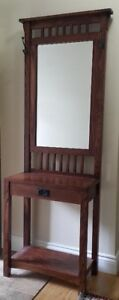 Hall stand (solid oak) $200
