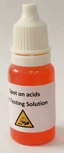 Silver Acid Testing Solution Free Uk P&P Instructions Included In Test Kit