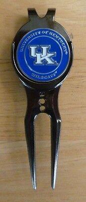 """University of Kentucky Wildcats 1"""" Golf Ball Marker 2 Side & Divot w/clip~NCAA"""
