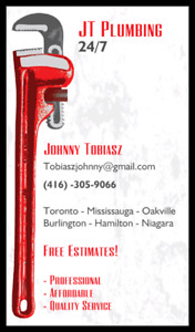 ON CALL 24/7 ALL WEEKEND JT PLUMBING