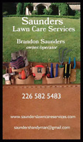 Saunders lawn care services!