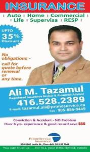 Lowest quote for Auto, Home, All commercial,Liability, travel