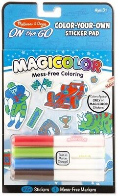 NEW Melissa And Doug - On The Go - Magicolor - Sticker Pad - Blue from Mr Toys