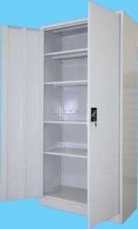 Steel Lockable Cupboard - Office Storage - Garage Shelving Loganholme Logan Area Preview