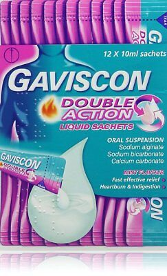 - Gaviscon Double Action Liquid Sachets 12 x 10ml