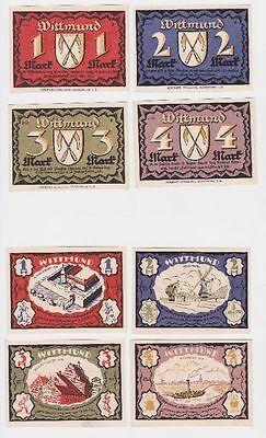 komplette Serie mit 4 Notgeld Banknoten Wittmund 1922 (118863)