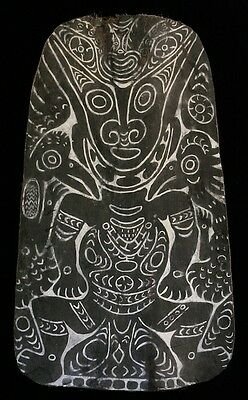 painted sago bark ceiling, keram river, papua new guinea