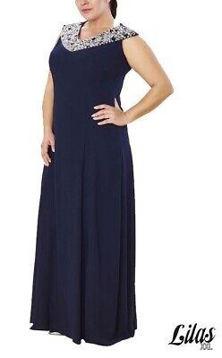 Abendkleid Ballkleid Brautkleid Maxikleid in dunkelblau (#115-116), Gr. 46 48 Braut Kleid Kleid