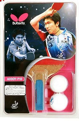 Butterfly ADDOY P10 Table Tennis Racket Penhold Paddle with ball 2pcs