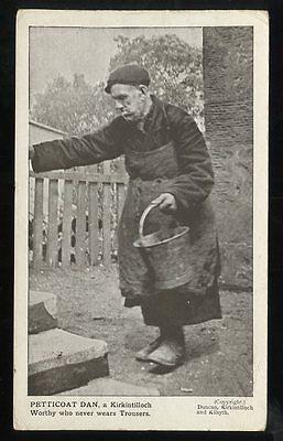 Scotland Dunbartonshire KIRKINTILLOCH Petticoat Dan 1906 PPC