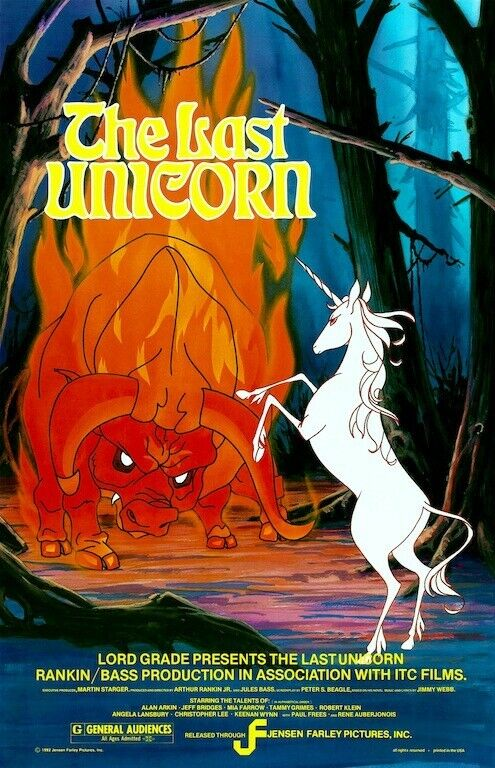 The Last Unicorn POSTER 1982 Rare Large Movie