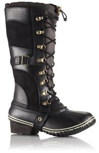 Sorel Conquest Carly boot size 8.5 in black