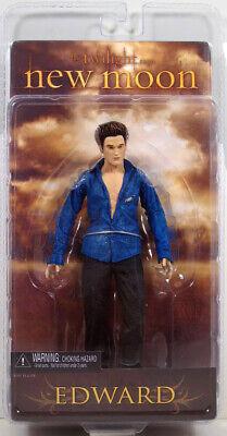 """Twilight New Moon series 2 - EDWARD CULLEN figure Blue Shirt MIP 7"""" vampire"""