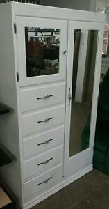 Beautiful Large 5 drawer, dual mirror Armoire