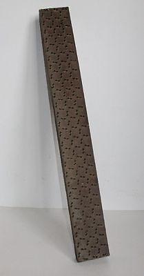 Antike 92 cm XXl-Blaudruck-Leiste /Blaudruck-Stempel/Wäschestempel/Stempel 666